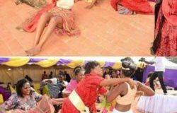 FAITS DIVERS: Le jour de son mariage , une mariée se met nue devant ses invités