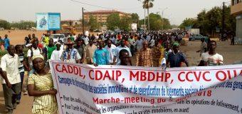 FONCIER AU BURKINA: Une marche-meetingpour exiger de meilleures conditions  d'accès aux logements